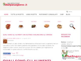 ChefPerUnGiorno.it è un sito con tantissime ricette facili e veloci per tutta la famiglia