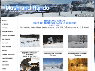 Mush And Rando : chien de traineau