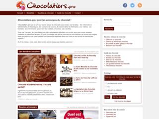 Aperçu du site Chocolatiers.pro