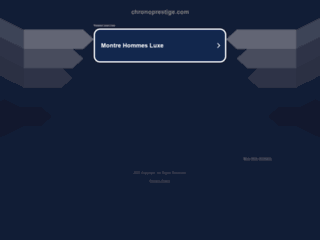 Capture du site http://www.chronoprestige.com/