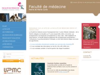 Faculté de médecine Pitié-Salpêtrière sur http://www.chups.jussieu.fr/
