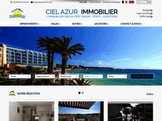 Aperçu du site Ciel Azur Immobilier