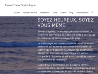 Cabinet Sophrologie : Sophrologue Caycedienne sur http://www.claire-sophrologie.com