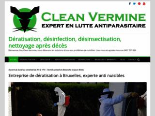 Capture du site http://www.clean-vermine.be