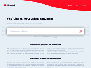 Clickmp3 : convertisseur vidéo YouTube en MP3