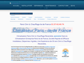 Détails : Paris Clim & Clim Réversible Entreprise Climatisation Paris Société Clim Groupe National Froid