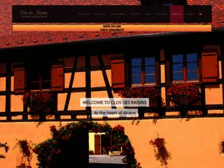 Le CLOS DES RAISINS Chambres d'hôtes de charme en Alsace