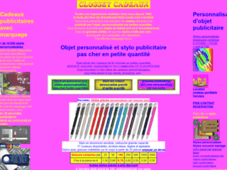 Détails : Clossetcadeaux : stylos et crayons publicitaires pas chers
