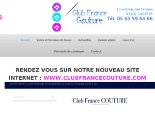 Club France Couture, vente en ligne de tissu au mètre