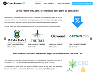 Détails : Codes Promo CBD : les meilleurs bons plans du cannabidiol
