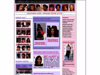 COIFFURES AFRO : annuaire salons coiffure, photos des coupes de stars, techniques et conseils entretien cheveux crepus