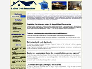 Capture du site http://www.coin-immobilier.eu/
