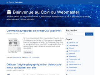 LE COIN DU WEBMASTER