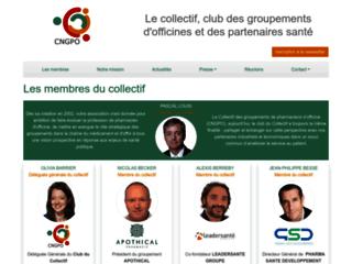 Détails : Collectif National des Groupements de Pharmaciens d'officine.