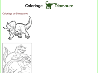 Capture du site http://www.coloriage-dinosaure.fr/