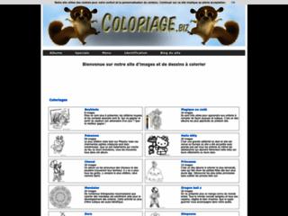 Capture du site http://www.coloriage.biz