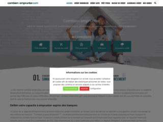 Aperçu du site Combien-Emprunter.fr