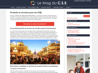 Aperçu du site Comitédentreprise.info