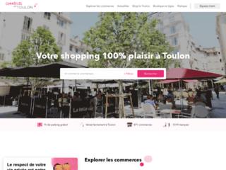 Capture du site http://www.commercesdetoulon.com/