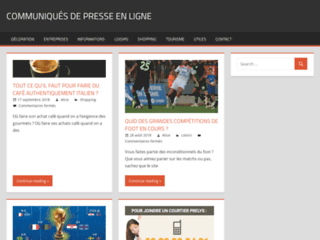 Détails :  site communiques.press
