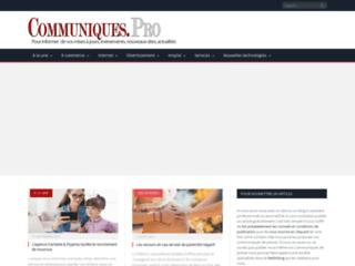 Détails : site communiques.pro