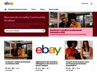 eBay.it - La Community di eBay, scambia consigli e fai domande agli altri utenti