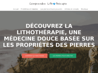 Comprendre Lithotherapie