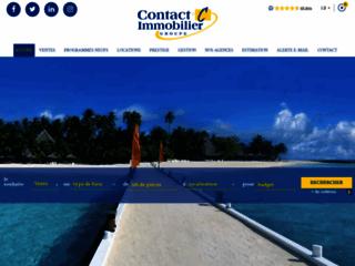 Capture du site http://www.contact-immobilier.eu