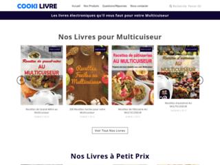 Achat de livre de recettes de cuisine Cookeo