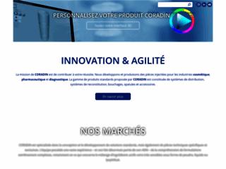 Capture du site http://www.coradin.com