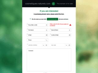 Vente en ligne de produits cosmétiques naturels sur http://www.cosmetiques-naturels.com