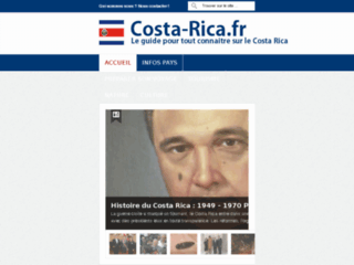 Capture du site http://www.costa-rica.fr