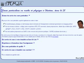 Capture du site http://www.cours-particuliers-maths28.com
