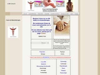 Cours de kinésithérapie : kinésithérapeutes sur http://www.courskine.fr