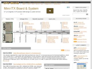 CPU-World.com - Notizie Processori CPU, benchmark, info, foto, identificazione CPU