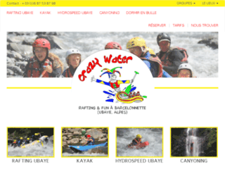 Week-end sport: Rafting ubaye