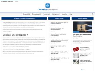Détails : Le site de la création d'entreprise
