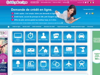 Crédit et prêt en ligne