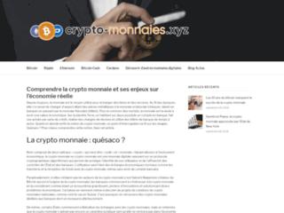 informations sur les crypto monnaies