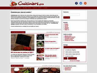 Aperçu du site Cuisiniers.pro