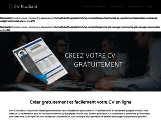 Détails : CV Etudiant