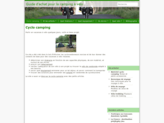 Capture du site http://www.cyclo-camping.fr