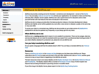 Info: Scheda e opinioni degli utenti : db4free.net - Get a MySQL 5.5 Database for free