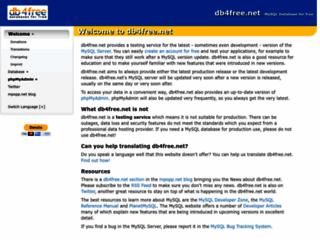 db4free.net - Get a MySQL 5.5 Database for free
