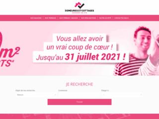 Capture du site http://www.demeures-et-cottages.com/