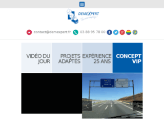 Aperçu du site DemeXpert