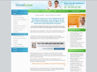 Couronne et implant dentaire discount sur http://www.dentaleurope.fr