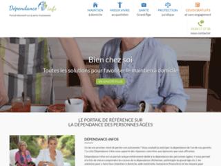 Capture du site http://www.dependance-infos.com/