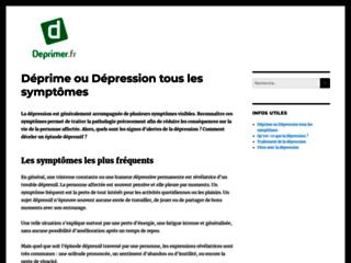 J'écris ton nom... dépression sur http://www.deprimer.fr