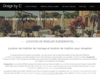 Détails : Design by C, le spécialiste en location et création de mobilier pour événements